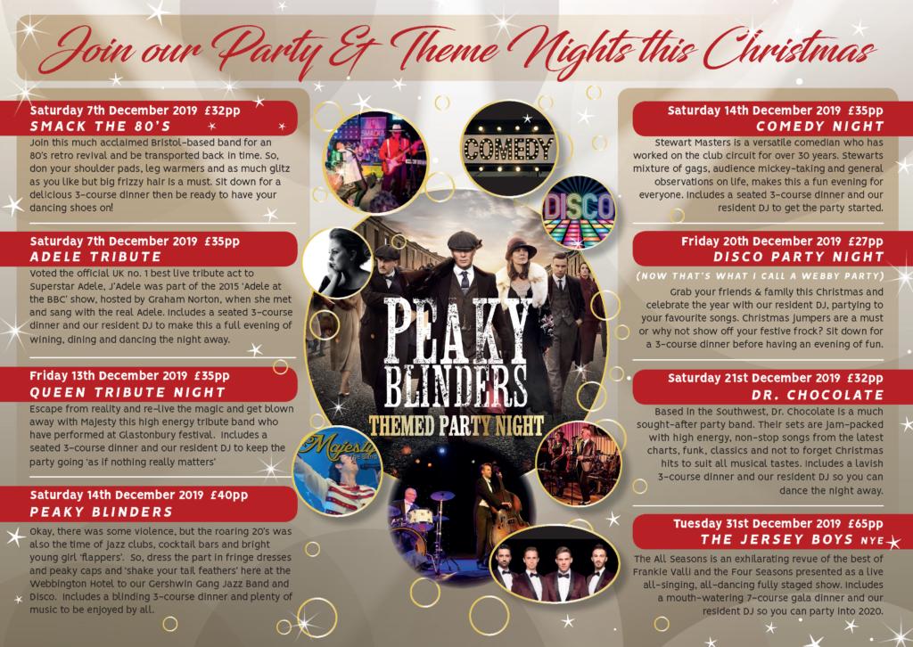 Christmas Party Venue in Somerset | Webbington Hotel and Spa